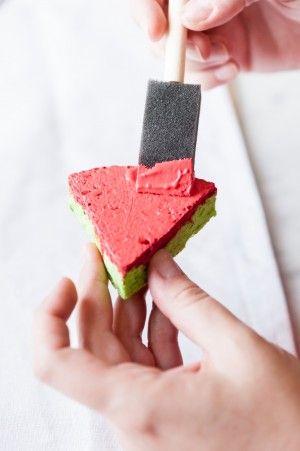 Sello esponja en forma de sandía