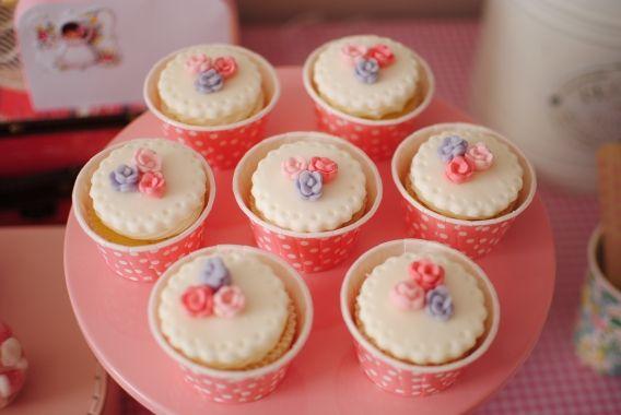 Cupcakes de Primera Comunión para niñas