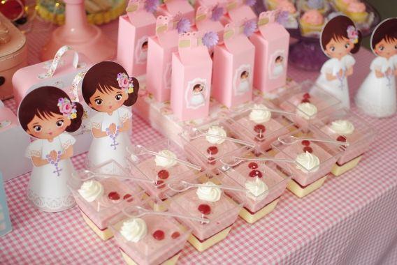 Mesa dulce de Primera Comunión para niñas