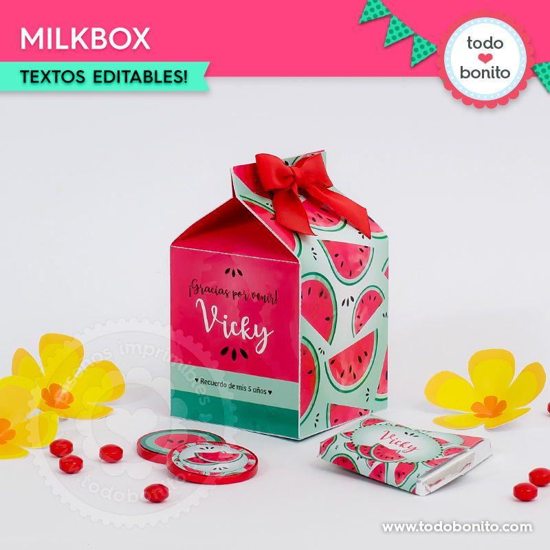 Milkbox sandías