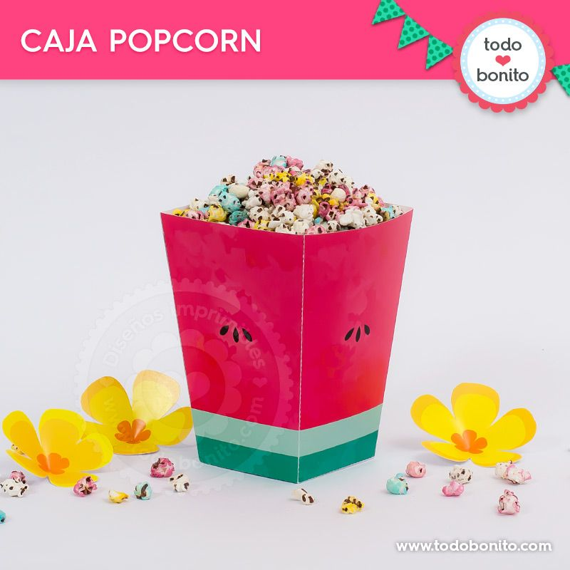 Caja popcorn sandías