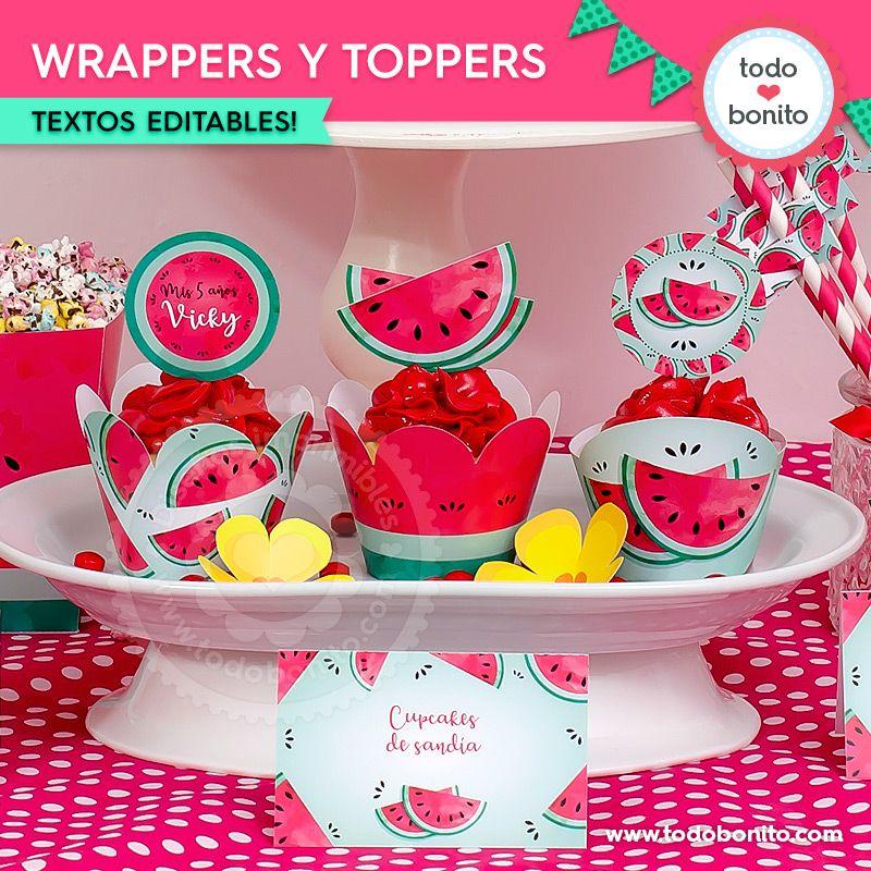 Wrappers y Toppers de sandías
