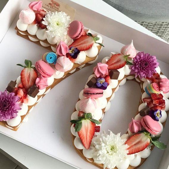 tortas de número