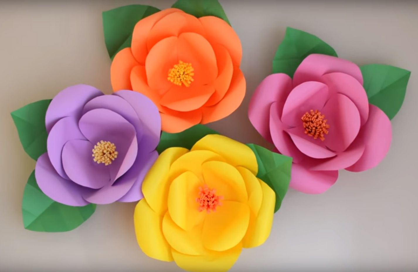 Flores Gigantes De Papel Paso A Paso Todo Bonito