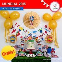 Kits imprimibles del Mundial Rusia 2018 gratis!