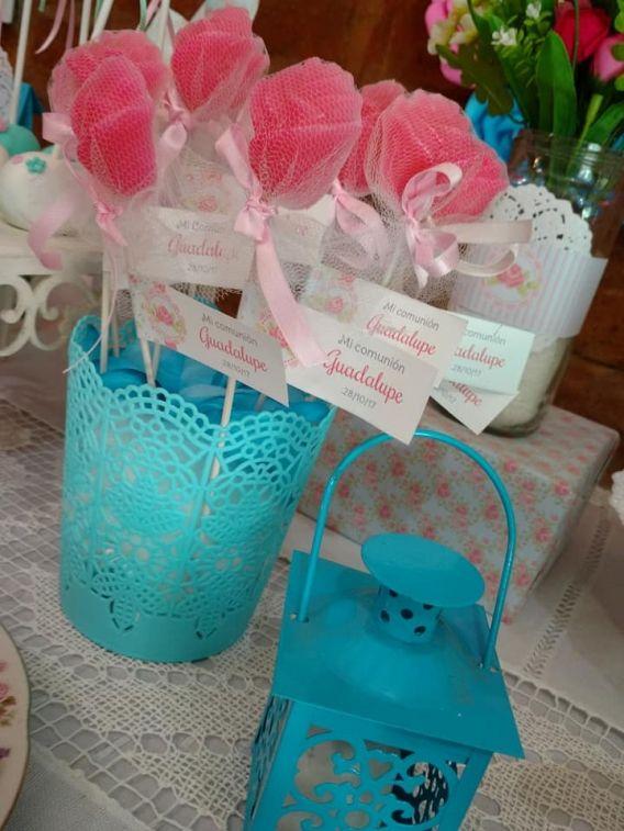 Kit Imprimible Shabby Chic Aqua Rosa Todo Bonito