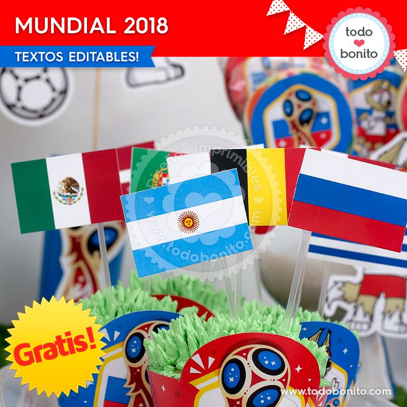 Kits imprimibles del Mundial Rusia 2018 gratis! - Todo Bonito