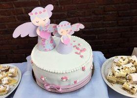 Bautismo con angelitos Shabby Chic