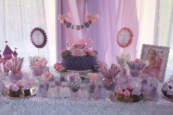 Mesa dulce de princesas