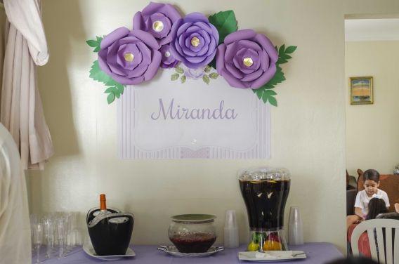 Sector de bebidas decorado shabby chic lila