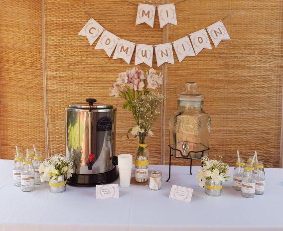 Mesa de café y jugos Kit Rustico