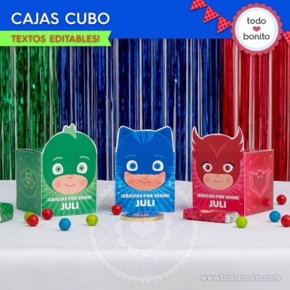 Caja Cubo PJ Masks Todo Bonito