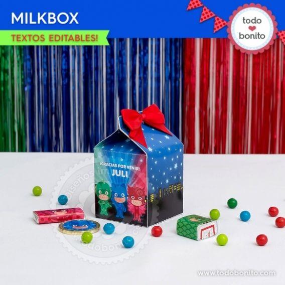 Caja MilkBox PJ Masks Todo Bonito