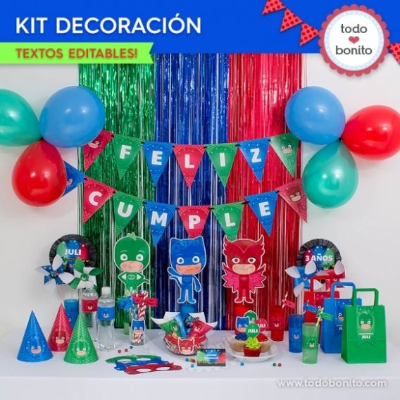 Kit decoración PJ Masks Todo Bonito