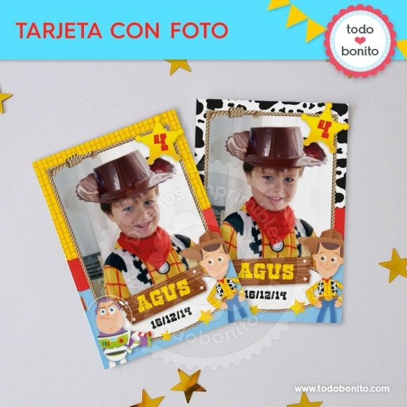 Tarjetas con fotos imprimibles Kit Toy Story by Todo Bonito