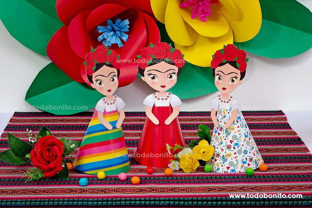 Figuras Frida Kahlo 3D por Todo Bonito