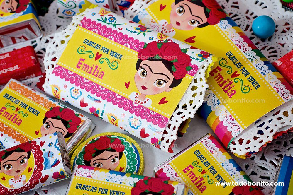 Golosinas personalizadas tematica Frida Kahlo