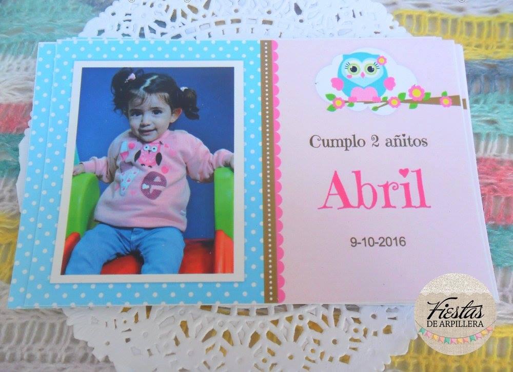 Tarjeta con foto Kit Imprimible Búhos Todo Bonito