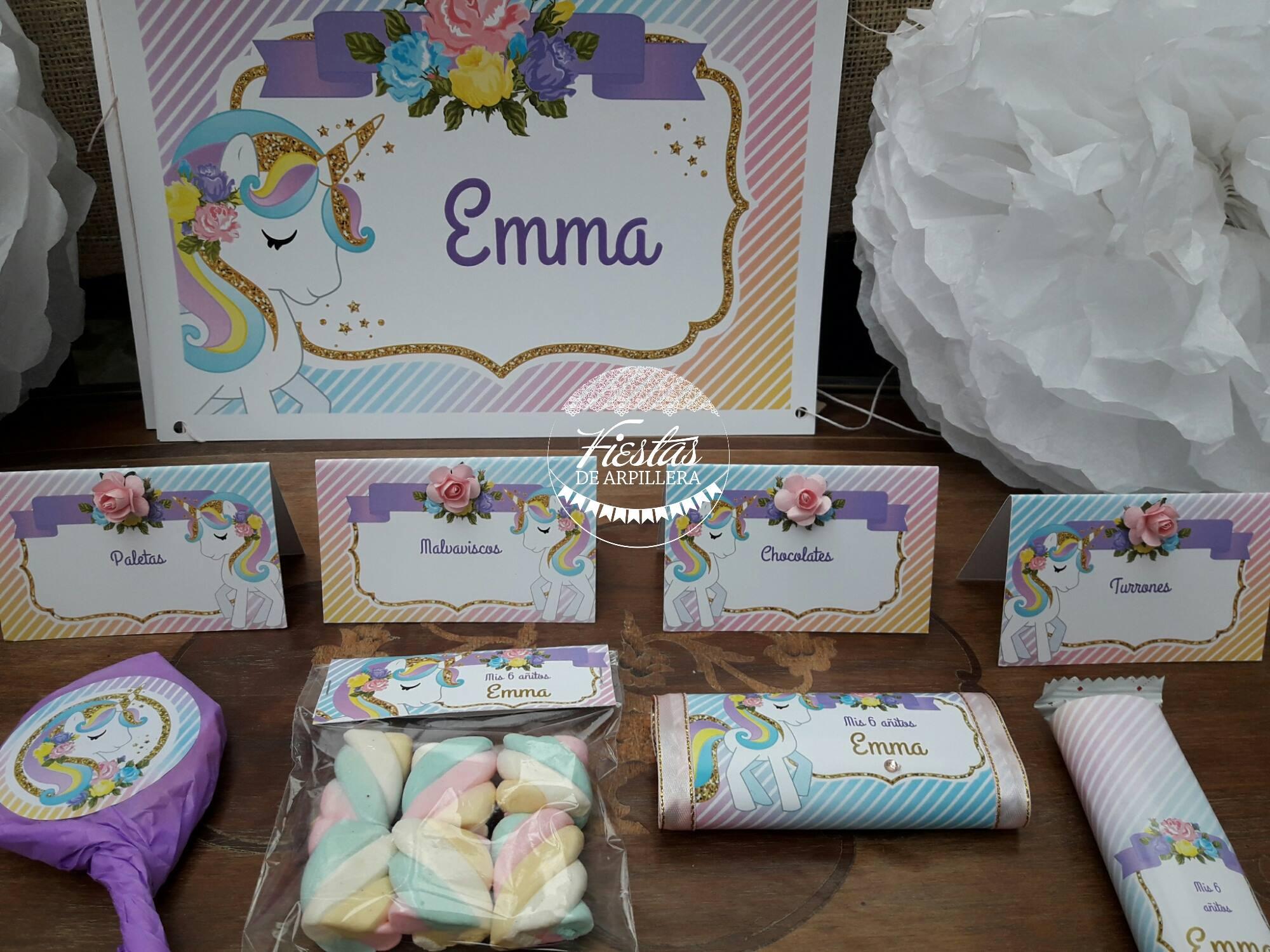 Detalle mesa dulce Emma