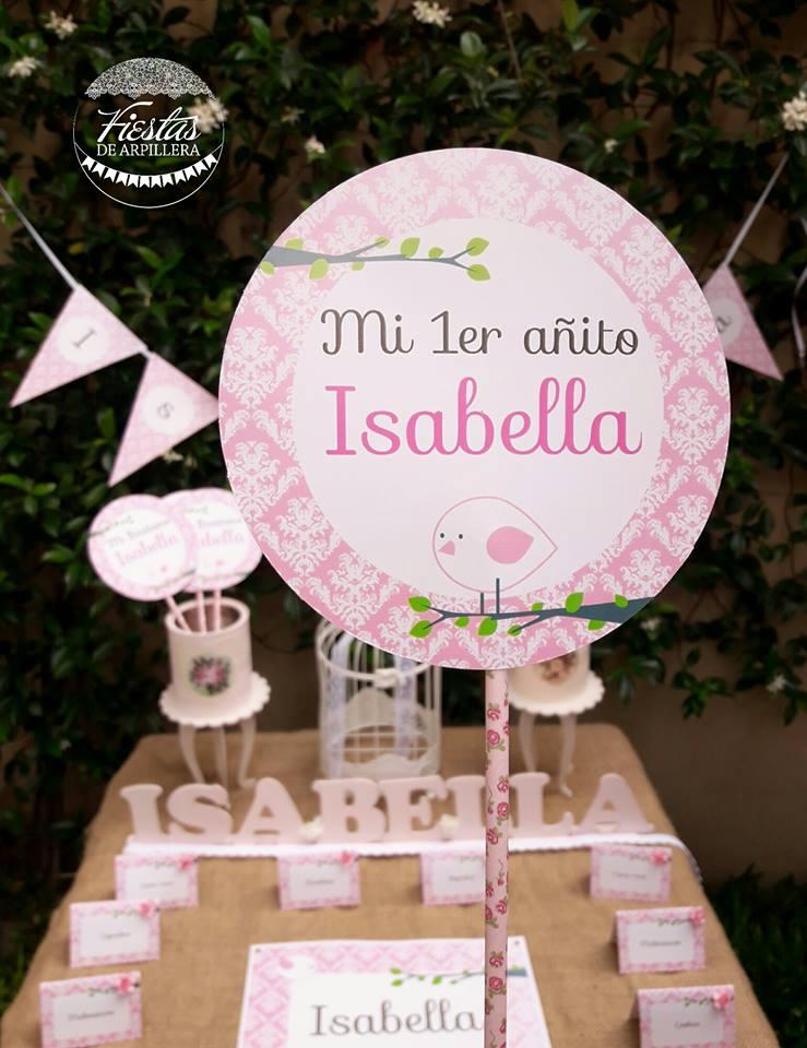 Deco Kit imprimible Pajaritos Rosa