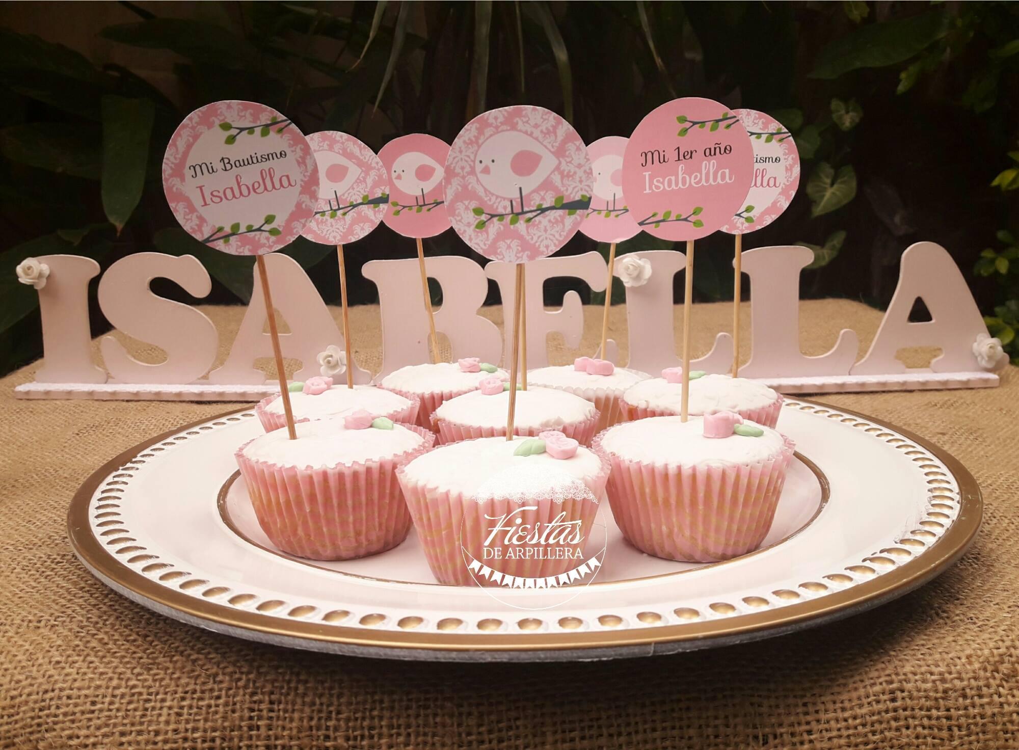 Cupcakes con Toppers Todo Bonito
