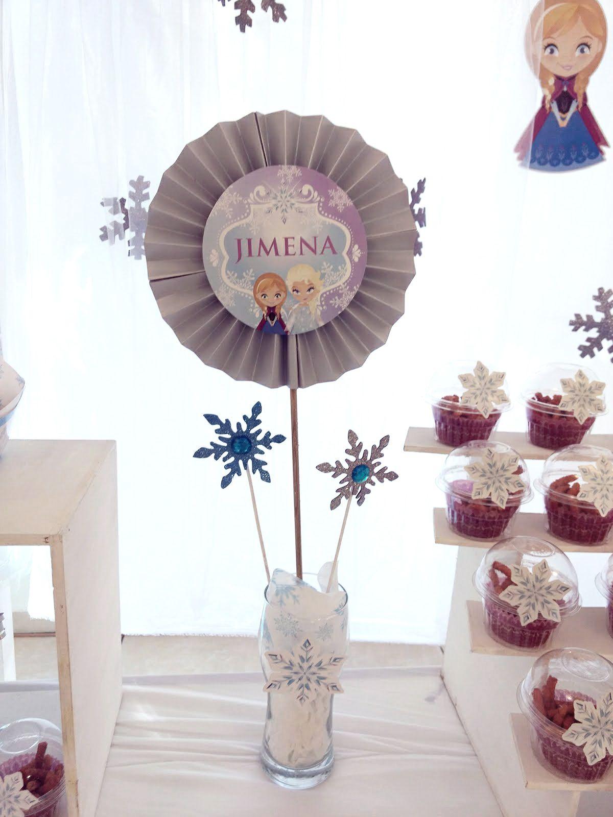 Detalles mesa dulce Frozen Todo Bonito