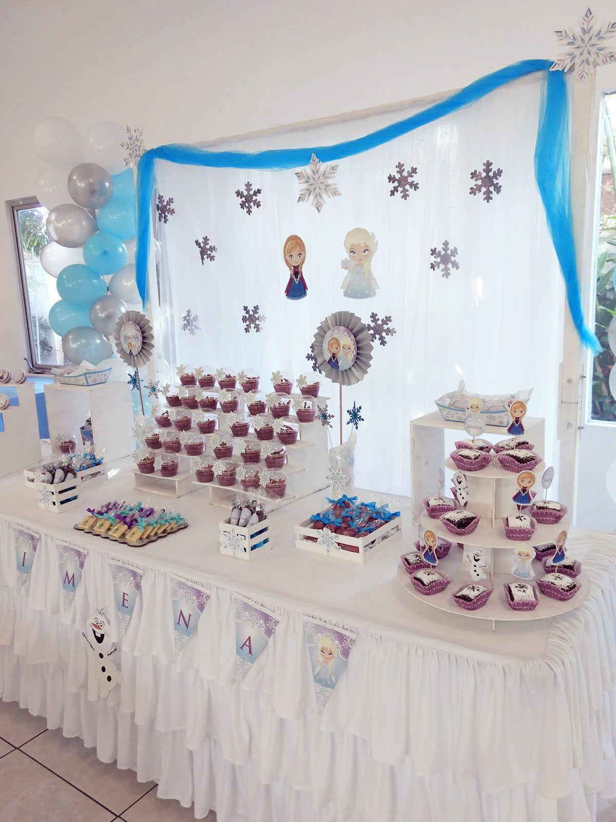 Mesa dulce tematica Frozen Todo Bonito