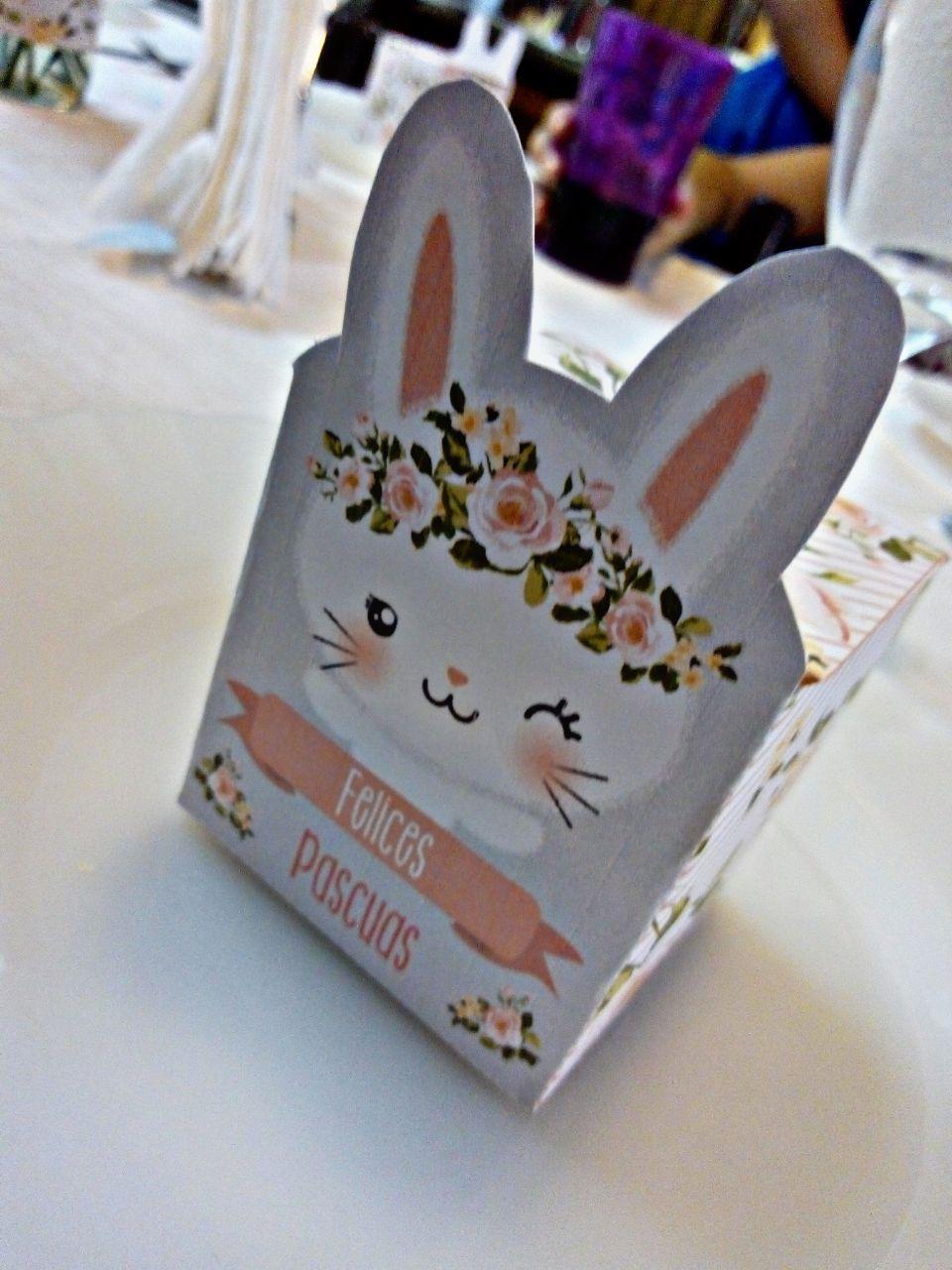 Caja cubo Kit imprimible Todo Bonito Tematica Conejos