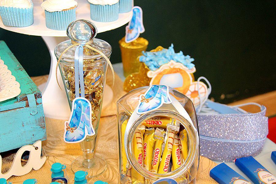 Detalles deco mesa dulce con kit cenicienta Todo Bonito