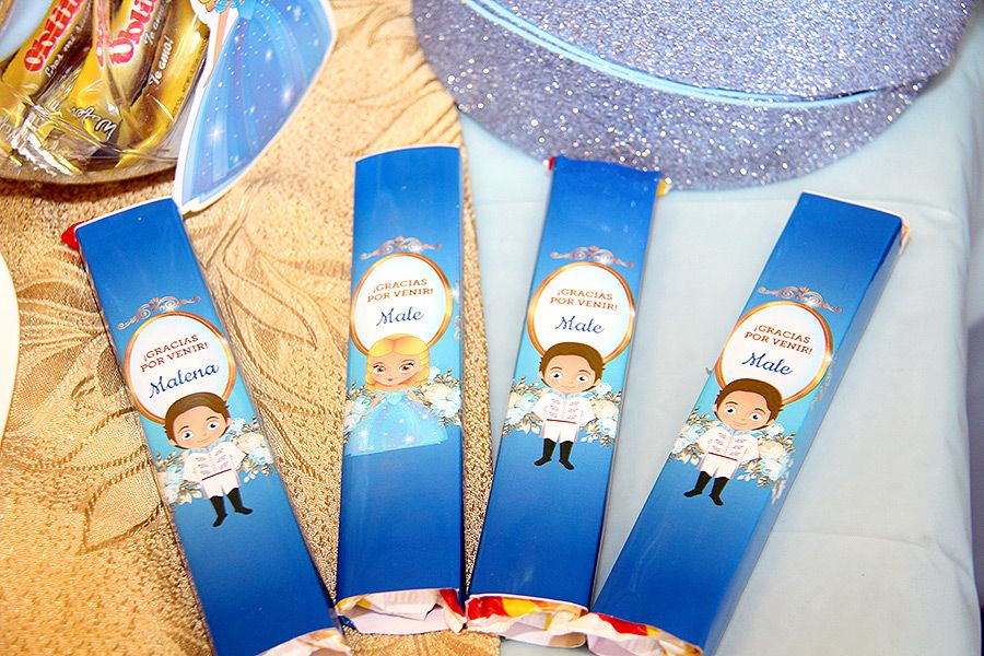Golosinas decoradas con kit Cenicienta