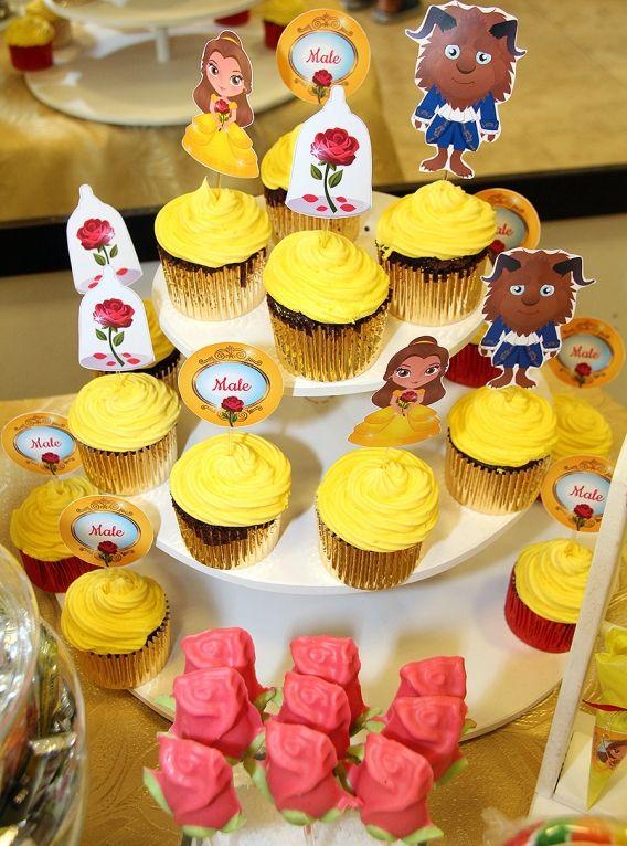 Cupcakes Bella y Bestia