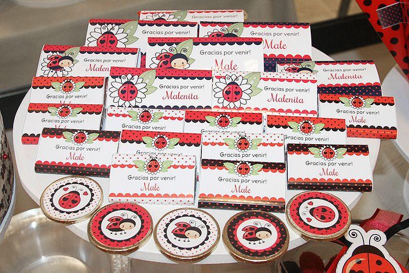 Golosinas de mesa dulce decorados Ladybug