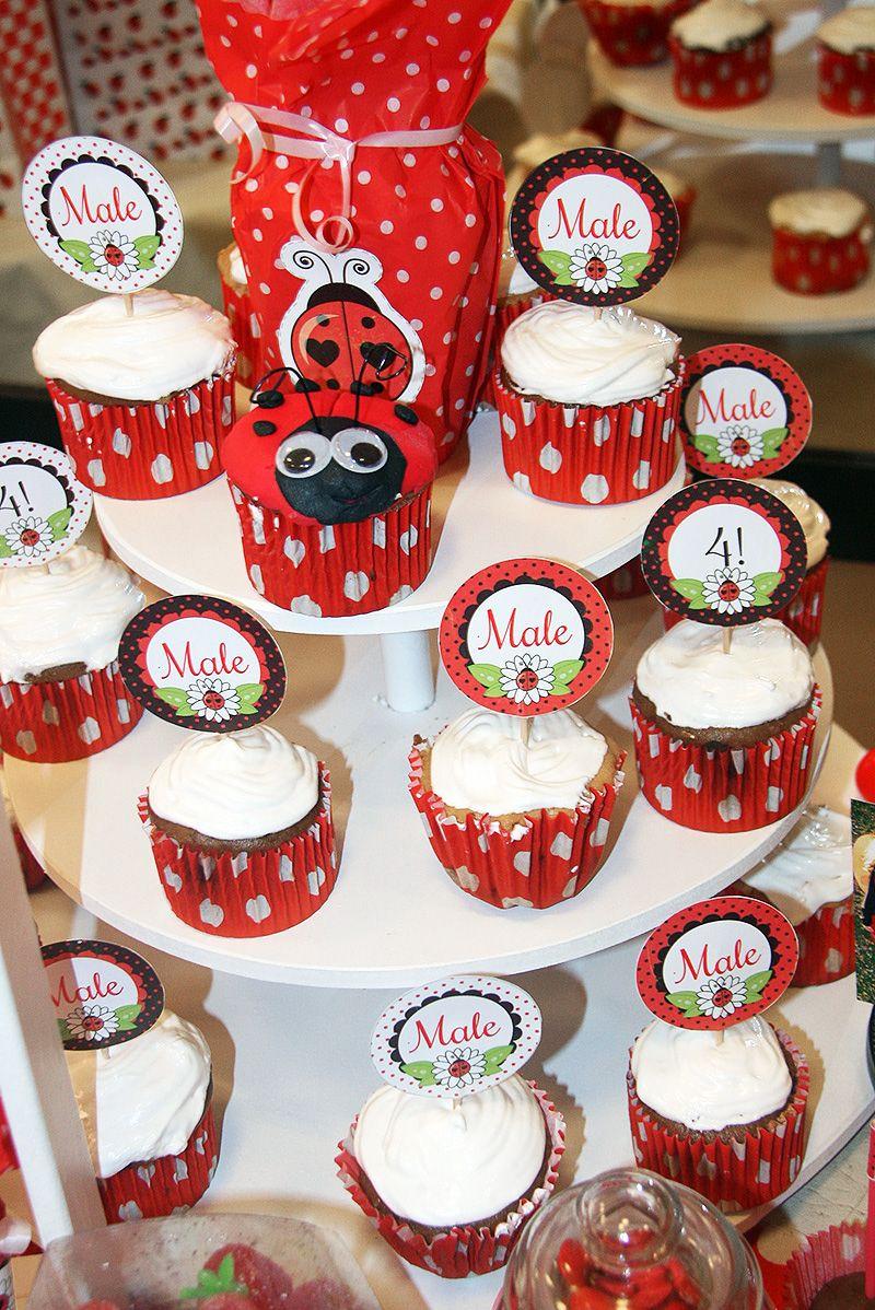 Cupcakes decorados Ladybug