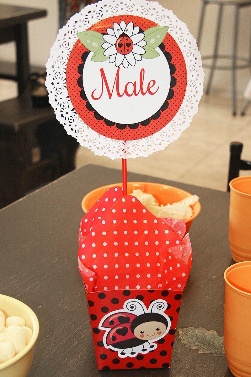 Centros de mesa decorados Ladybug