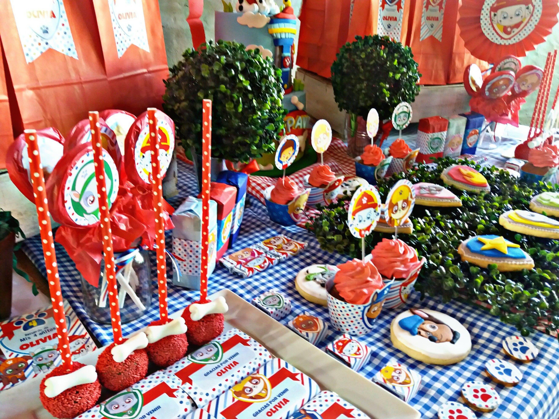 Detalles Mesa dulce decorada Cachorros Paw Patrol