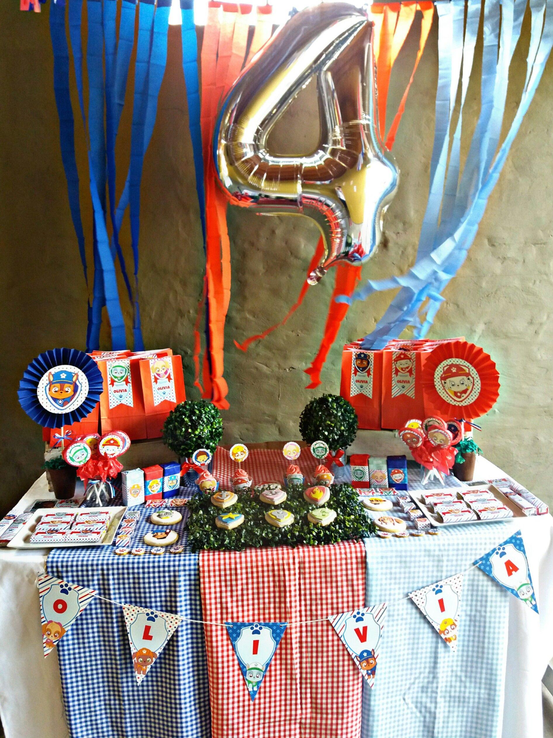 Mesa dulce decorada Cachorros Paw Patrol Todo Bonito