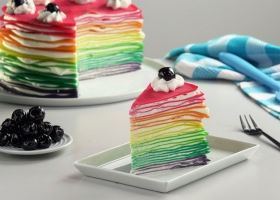 Torta arcoíris de... ¡Panqueques!