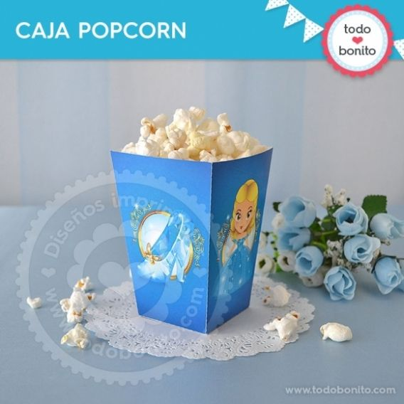 Caja PopCorn Cenicienta Todo Bonito