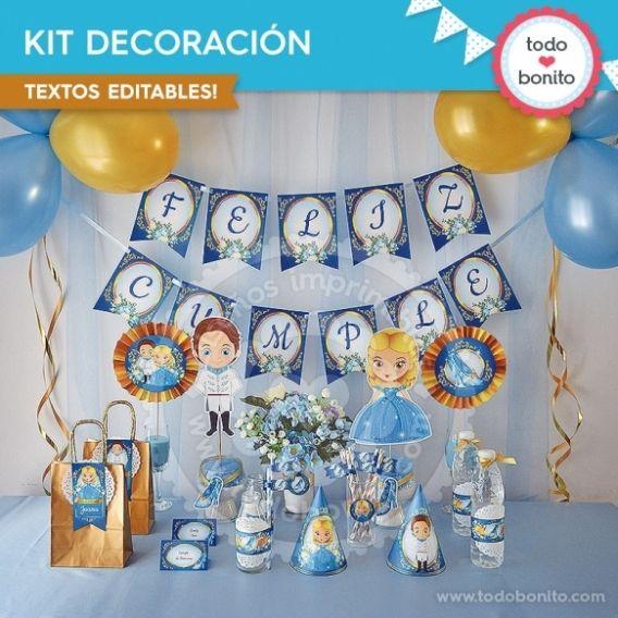Kit de decoración Cenicienta Todo Bonito