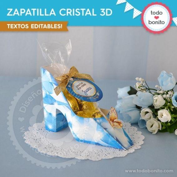 Zapatilla Cristal Imprimible Cenicienta Todo Bonito
