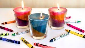 Cómo hacer velas con crayones