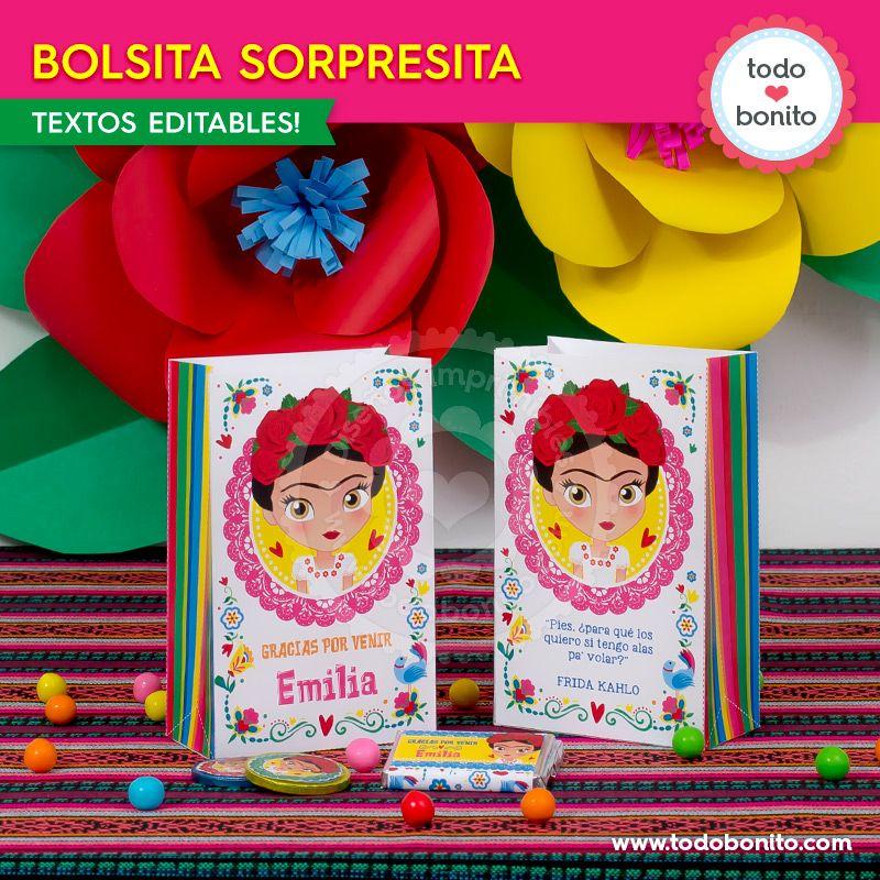 Bolsitas de Frida Kahlo por Todo Bonito