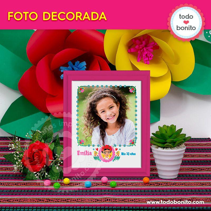 Foto decorada para imprimir de Frida Kahlo