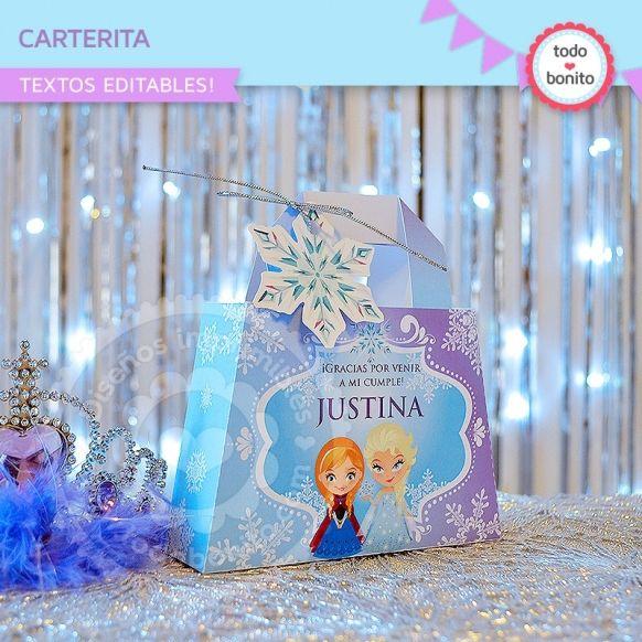 Carterita imprimible Frozen Todo Bonito