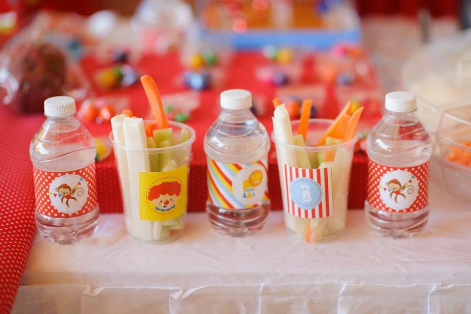 Bebidas y Delicias con Kit de golosinas imprimibles Circo Todo Bonito