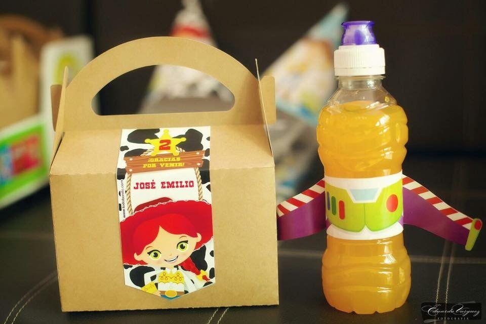Cajita y botella con Kit Imprimible Toy Story Todo Bonito