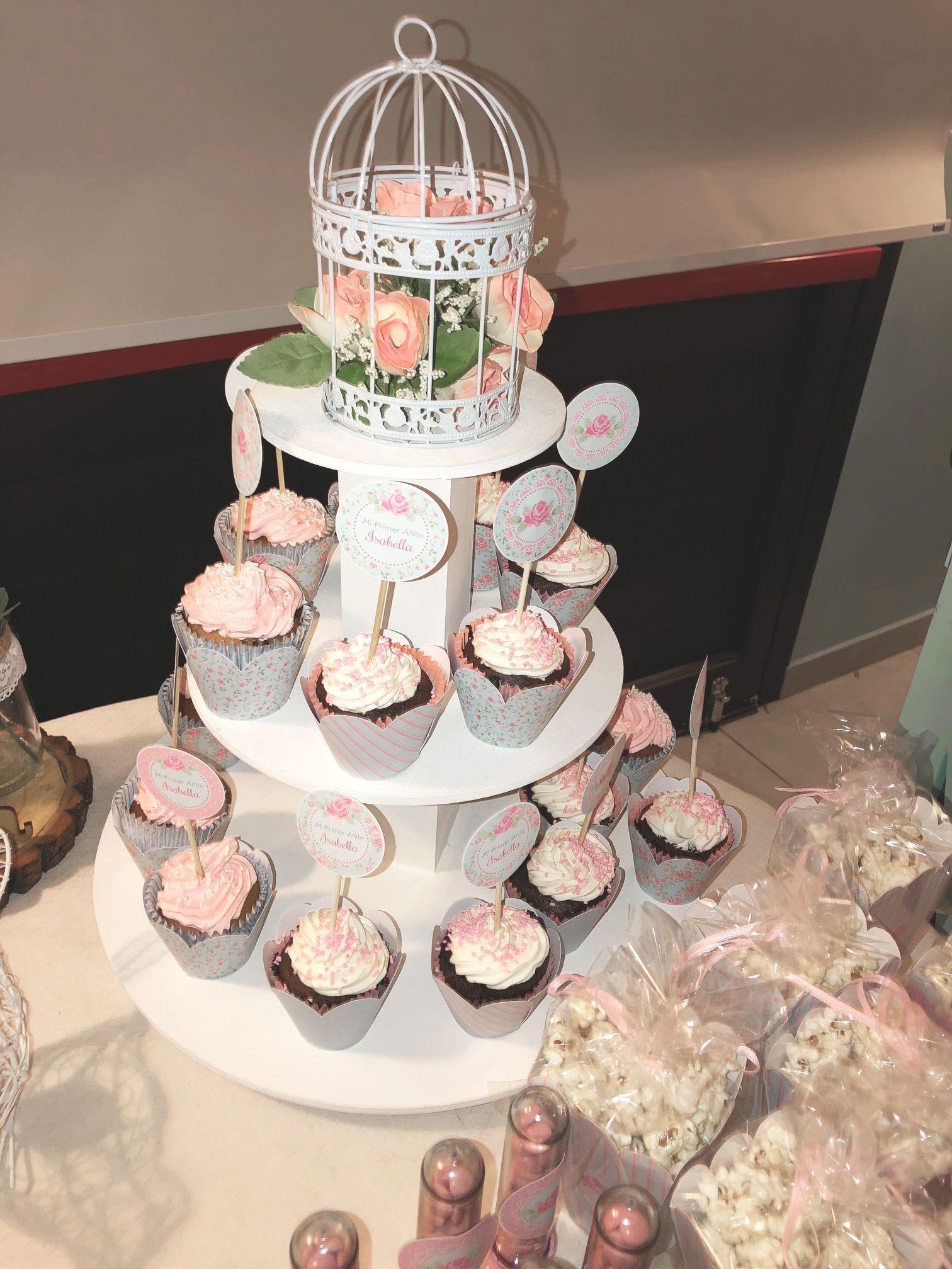 Torre Cupcakes y deco Todo Bonito
