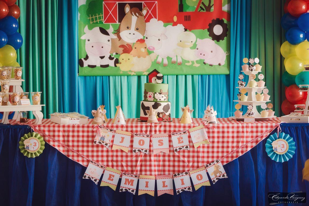 Mesa dulce Kit decoración imprimible Granja Todo Bonito
