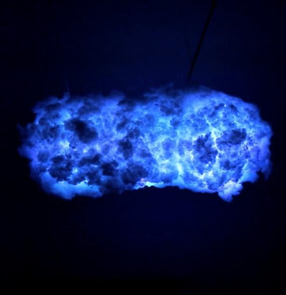 Lámpara con forma de nube paso a paso