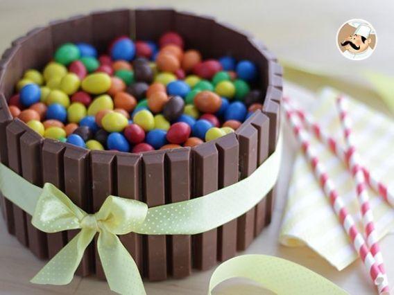 Torta kit kat con ganache de chocolate